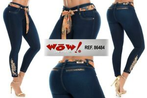 WOW Authentic Colombian Push Up Jeans,Levanta Cola,Butt Lift Jeans Colombianos