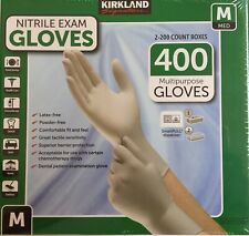 Members Mark Nitrile Exam Gloves Large Total 400 Count Gloves Rubber Strong Elastic Medium