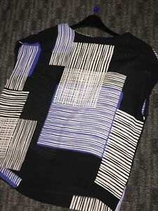 Black-Blue-Cream-Next-Summer-Top-Size-14
