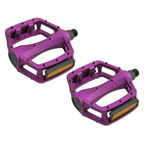 "Purple 9//16/"" VP Components BMX Wide Platform Fixie Road MTB Bike Bicycle Pedals"