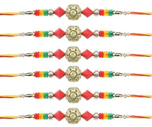 Jewelry & Watches Fast Deliver 6 X Rakhi Thread Bracelet Multicolour Bead Raksha Bandhan Rakhi Wrist Band Dora Other Hinduism Collectibles