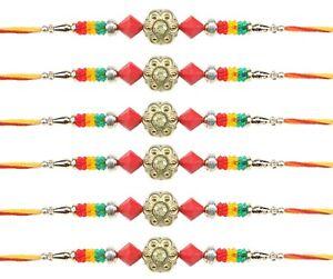 Wristbands Other Hinduism Collectibles Fast Deliver 6 X Rakhi Thread Bracelet Multicolour Bead Raksha Bandhan Rakhi Wrist Band Dora
