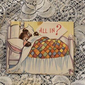 Punny Bear Vintage Anthropomorphic Get Well Soon Card by Hallmark