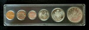 Canada-1963-Choice-BU-UNC-Six-Coin-Year-Set-with-Silver