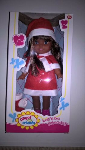 Doll EthnicAfrican AmericanHispanicIndianDark Skin 11 inches Santa Outfit