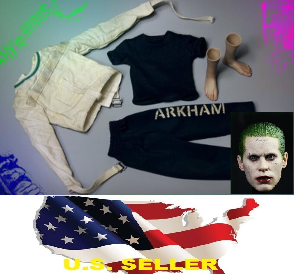 1/6 Joker JaROT Leto head madhouse clothes ARKHAM pants Suicide Squad ❶USA❶