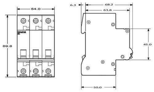 Backup sportello automatico linea disgiuntore MCB 16a tipo C 3 pin 6ka 10 pezzo