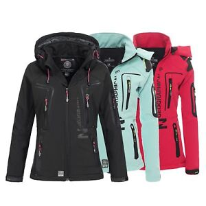 Geographical-Norway-Tislande-Damen-Softshell-Jacke-Outdoor-Funktionsjacke