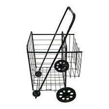 Grocery Utility Shopping Cart Easily Collapsible And Portable With Rolling Wheels