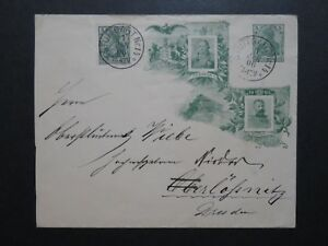 Germany-1906-Wilhelm-Fiedrich-Green-Cacheted-Stationery-Used-Z10219