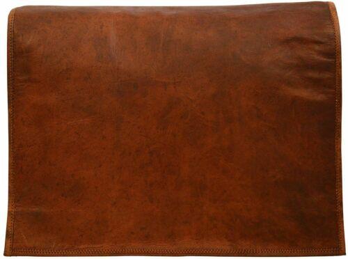 Genuine Vintage Brown Leather Messenger Shoulder Laptop Bag Briefcase For Men/'s