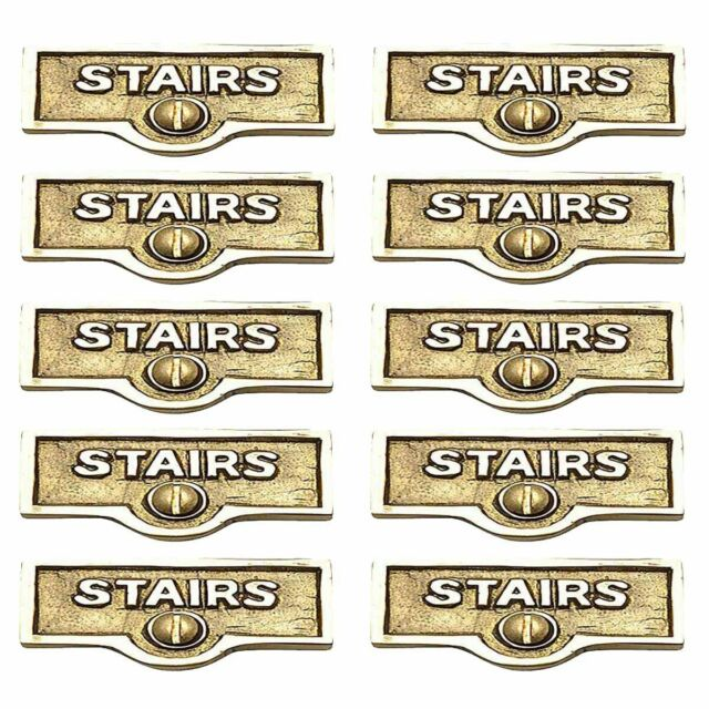10 Switch Plate Tags Stairs Name Signs Labels Lacquered Brass Renovator S Sup For Sale Online