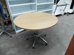 OFFICE-1000MM-BEECH-ROUND-TABLE-BRISBANE