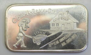 Hawthorne-CA-Coin-A-Rama-City-039-s-10th-Anniversary-1oz-999-Silver-Bar-1973-FS