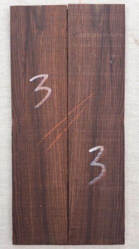Amazon rosewood bookmatched guitar headplate inlay set head veneer blank