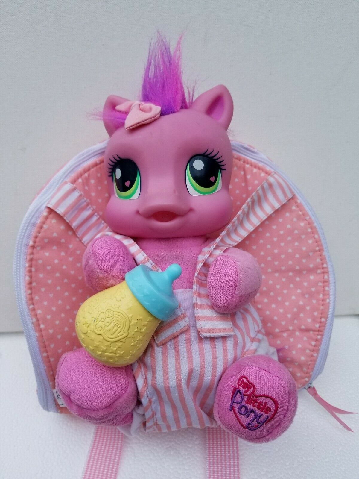 My klein Pony Discontinued Baby With Bottle Play And voiturery Bag Spielzeug Figure