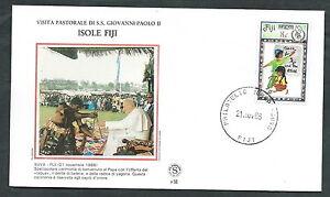 1986 Vaticano Viaggi Del Papa Isole Fiji Suva - Sv