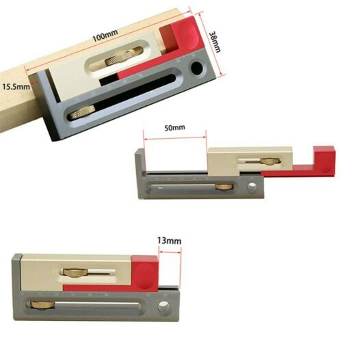 Drillpro Table Saw Slot Adjuster Mortise and Tenon Tool Woodworking Movable