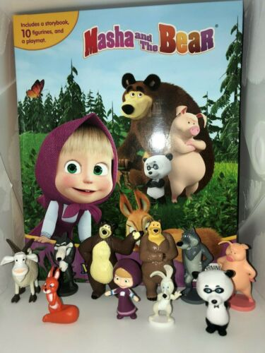STORY 10 FIGURES FREE P+P MASHA AND THE BEAR BUSY BOOK