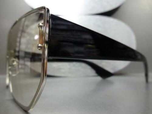 Modern UPSCALE LUXURY Fashion Shield Style SUN GLASSES Clear Lens Slight Tint