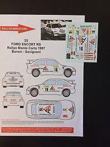 DECALS-1-43-FORD-ESCORT-COSWORTH-BARONI-RALLYE-MONTE-CARLO-1997-WRC-RALLY
