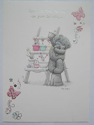 ME TO YOU TATTY TED LADDER OF FLOWERS SPECIAL WISHES BIRTHDAY GREETING CARD