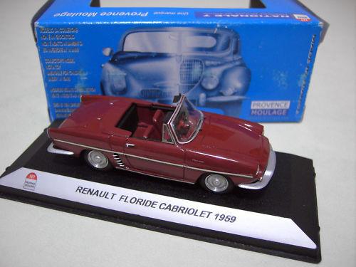 RENAULT FLORIDE cabriolet 1959 1 43 N7 PROVENCE MOULAGE voiture miniature collec