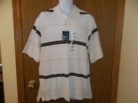 Men's Northcrest Classic White Brown Polo Shirt Size Large 43-44