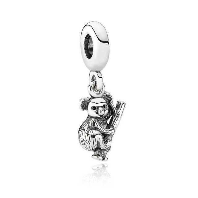 Authentic PANDORA Charm Koala Bear Australia Sterling Silver Dangle 791085