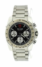 Tudor Sport Chronograph Black Dial Stainless Steel Watch 20300