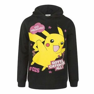 Girls Pokemon Pickachu Gotta Catch Em All Hoody.Licensed Product.Ages 9-16 Years