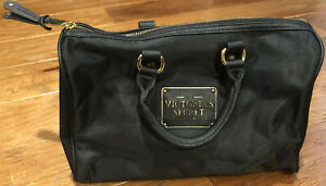 LOVE-VICTORIA-039-S-SECRET-TRAVEL-BLACK-LARGE-COSMETIC-BAG-JEWELRY-CASE-LUGGAGE