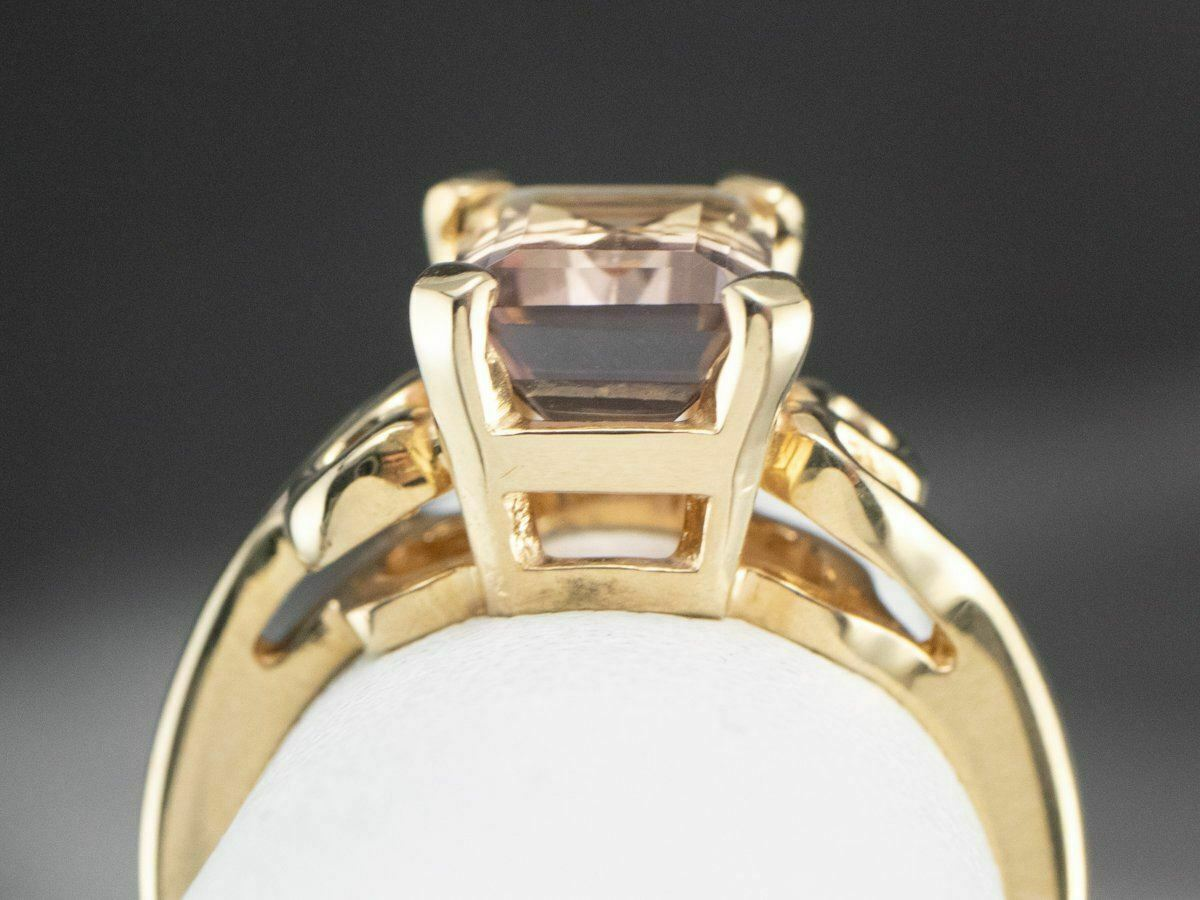 Ametrine Gold Solitaire Ring - image 8