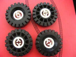 Lego Technic wheel 3482//3634 17x43 Split Axle hole with Tyre x4
