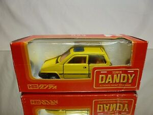 DANDY-TOMICA-023-HONDA-CITY-JAZZ-YELLOW-1-43-RARE-EXCELLENT-IN-BOX