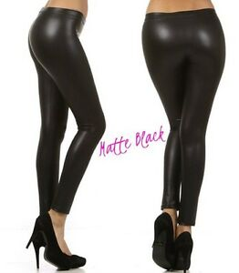 c5195e3363c PLUS SIZE ROCK N ROLL WET METALLIC LEGGINGS LIQUID FOIL 80s VINYL ...
