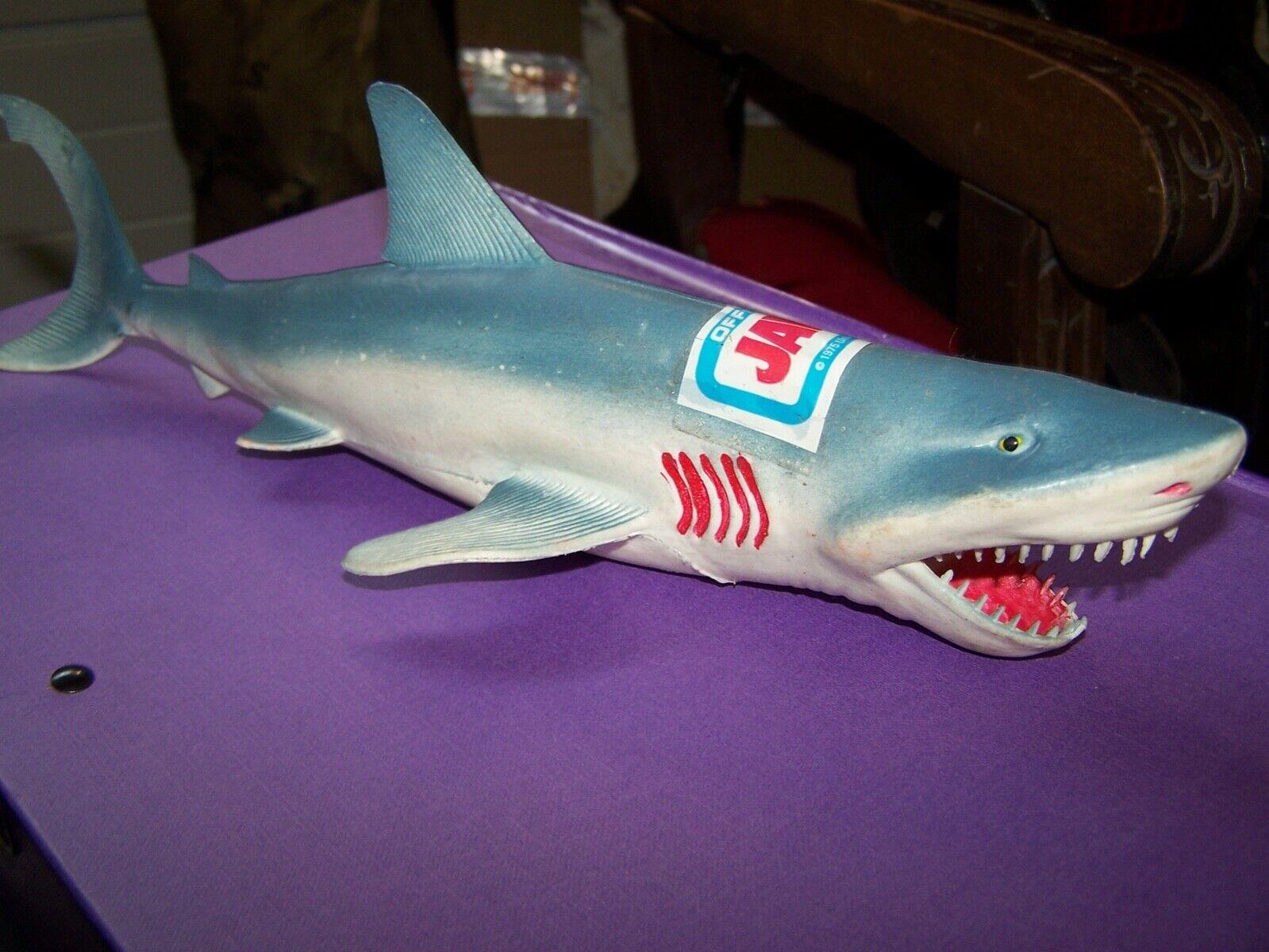 RARE Vintage JAWS 12 tum Figur Använt 1975
