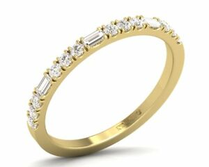 0-35Carat-Round-and-Baguette-Cut-Half-Eternity-Wedding-Ring-in-18K-Yellow-Gold