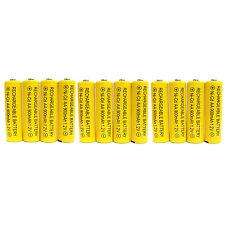 12 pc AA 900mAh Ni-Cd  Ni-Cad 1.2V Rechargeable Battery RC Solar Yellow US Stock