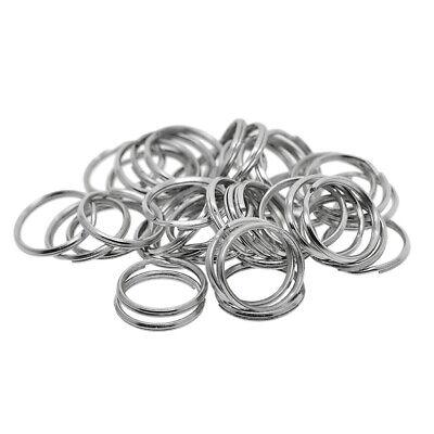 Key rings O ring Large Key Fob Ring Metal Split Ring for Key Chain Wholesale Key Ring Findings Key Split Ring 200pcs 1 25mm