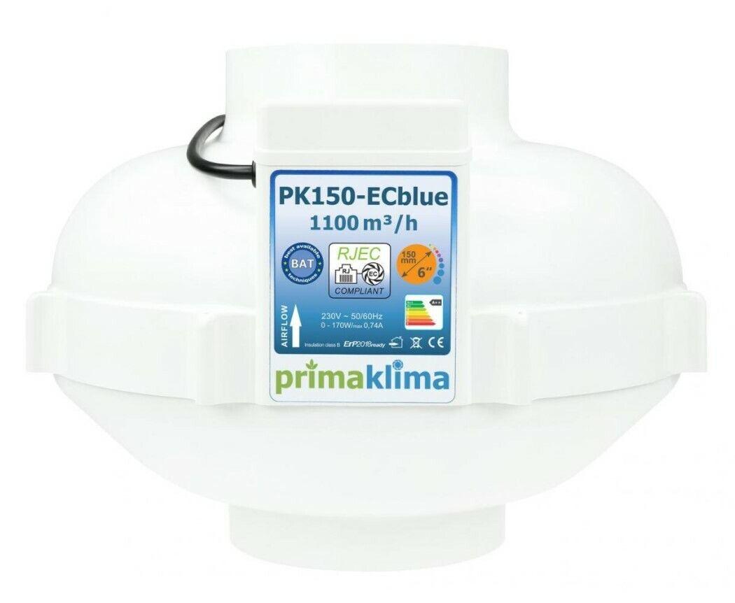 Ventilador de tubo clima perfecto EC azul 1100m³ - 150mm