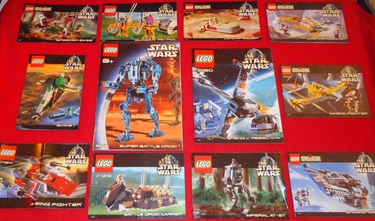 STAR WARS LEGO INSTRUCTION MANUALS ONLY NO LEGO'S 12 MANUALS
