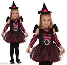 Toddler Girls Witch Halloween Fancy Dress Costume Outfit 2 3 years  Ht 90-104cm
