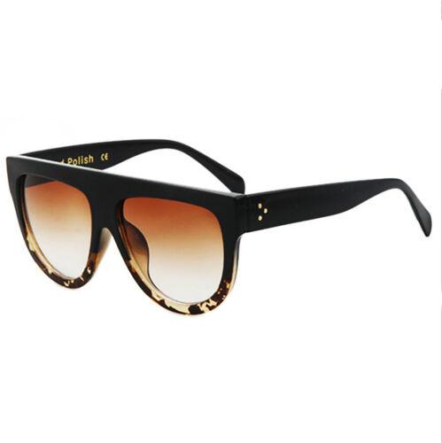 Damen Übergröße Flache Oberseite Hochwertig Handpoliert UV400 Sonnenbrille