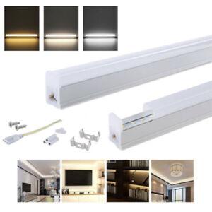 t5 led leuchtstoffr hre 30cm 60cm integriert tube led r hre lamp ersetzen w plug ebay. Black Bedroom Furniture Sets. Home Design Ideas