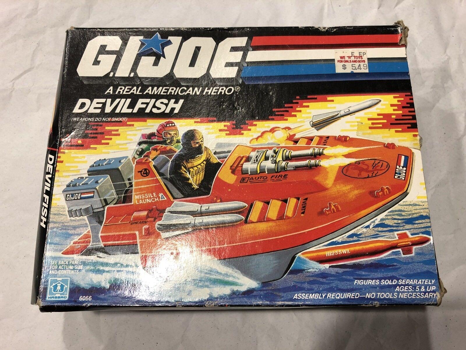 """GI Joe 1986 Devilfish MIB unassembled vintage 3 3 4"""" ARAH"""