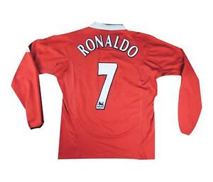 Manchester United 2004-06 Authentic Home Camicia L/S RONALDO #7 (eccellente) XL