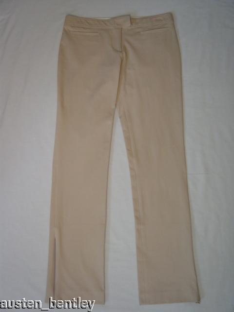 NEW CYNTHIA STEFFE KHAKI COTTON ZIPPER LEG PANTS 6  175