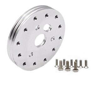 Aluminum-Steering-Wheel-Spacer-for-3-Hole-Adapter-1-2-Inch-5-6-Hole-silver