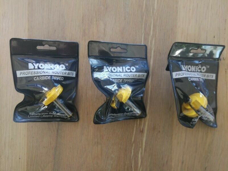 Yonico Stepped Rabbeting Picture Frame Router Bits